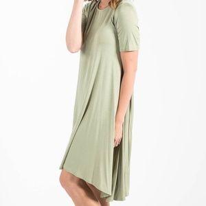 Agnes & Dora Joplin Midi Dress, XXS/tween, sage